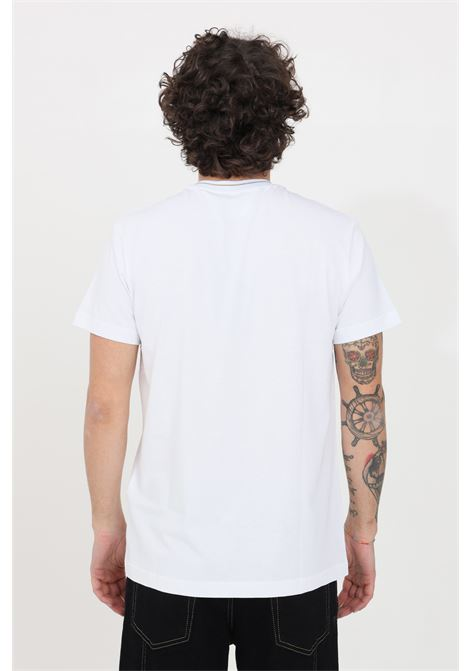 T-shirt uomo bianco versace jeans couture manica corta VERSACE JEANS COUTURE | T-shirt | B3GWA7TF30319K41