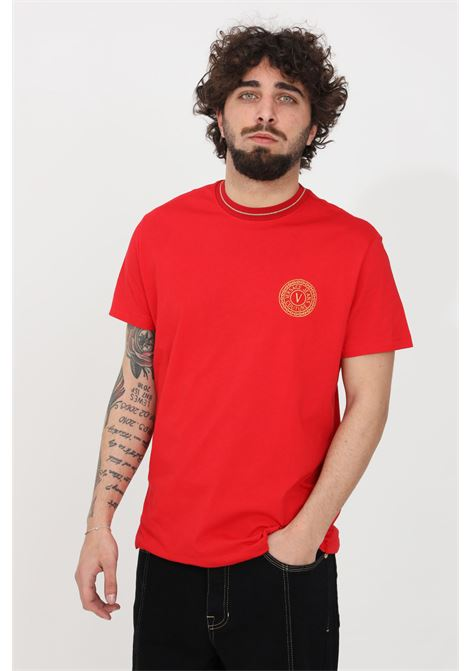 T-shirt uomo rosso versace jeans couture manica corta VERSACE JEANS COUTURE | T-shirt | B3GWA7TF30319O19