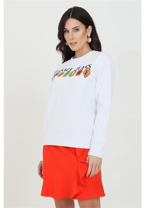 Crew neck sweatshirt with front print VERSACE JEANS COUTURE | Sweatshirt | B6HWA7PC30456003