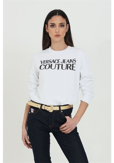 White sweatshirt with contrasting logo on the front. Brand: Versace jeans couture VERSACE JEANS COUTURE | Sweatshirt | B6HWA7TN30453003