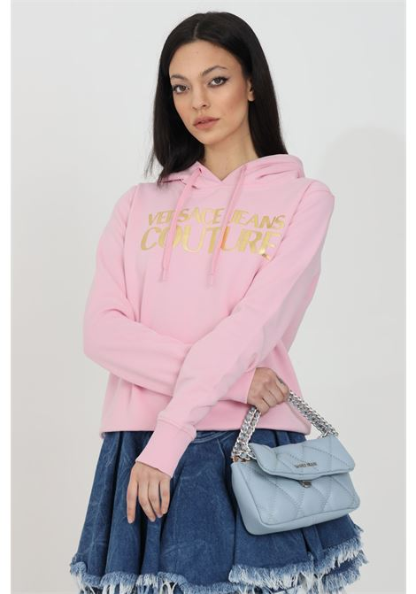 Hoodie with laces VERSACE JEANS COUTURE | Sweatshirt | B6HWA7TP30318402