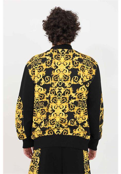 Felpa uomo nero versace jeans couture girocollo VERSACE JEANS COUTURE | Felpe | B7GWA710S0156899