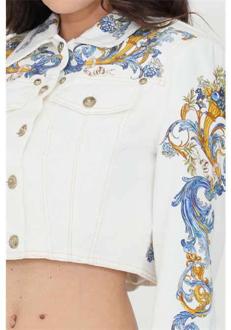 White denim jacket versace jeans couture VERSACE JEANS COUTURE | Jacket | C0HWA92PSS054E70