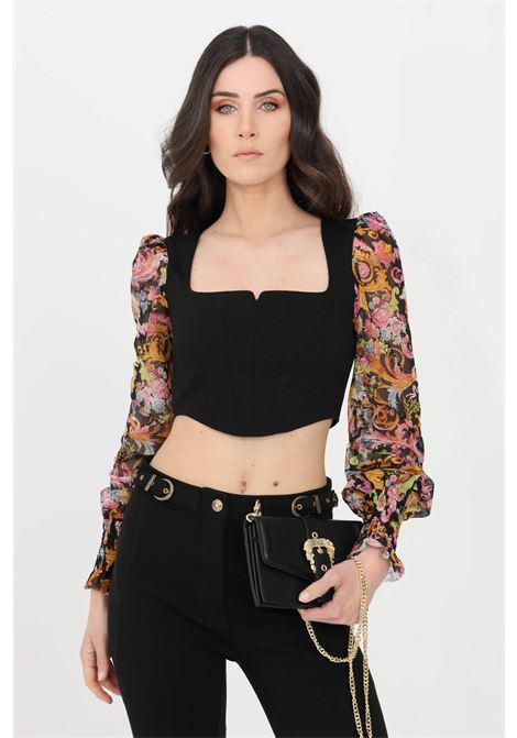 Top donna nero versace jeans couture corpetto VERSACE JEANS COUTURE | Top | D3HWA663S0094899