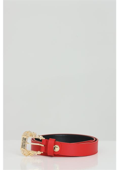 Red belt with light gold buckle. Brand: Versace jeans couture VERSACE JEANS COUTURE | Belt | D8VWAF0171627500