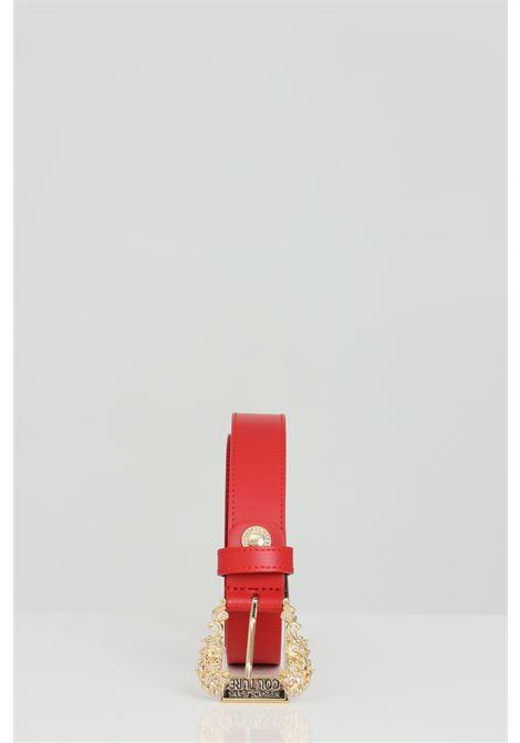 Cintura in pelle con fibbia oro light VERSACE JEANS COUTURE | Cinture | D8VWAF0171627500