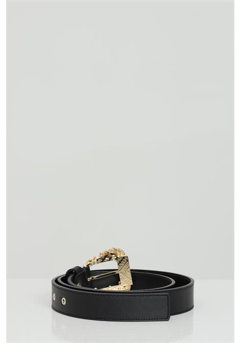 Cintura in pelle con fibbia oro light VERSACE JEANS COUTURE | Cinture | D8VWAF0171627899