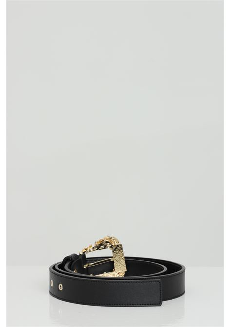 Leather belt with light gold buckle VERSACE JEANS COUTURE | Belt | D8VWAF0171627899