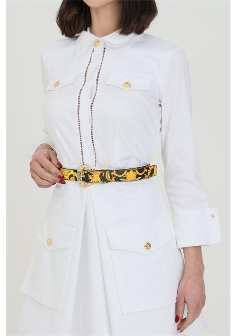 Cintura donna fantasia versace jeans couture con fibbia oro light VERSACE JEANS COUTURE | Cinture | D8VWAF0171880M27