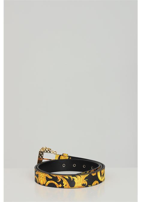 Fantasy belt with gold light buckle. Brand: Versace jeans couture VERSACE JEANS COUTURE | Belt | D8VWAF0171880M27