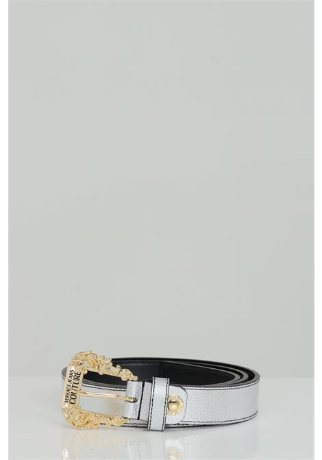 Silver belt with gold buckle. Brand: Versace jeans couture VERSACE JEANS COUTURE | Belt | D8VWAF0172010900