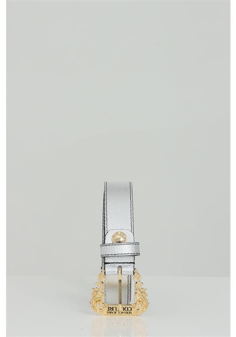 Cintura silver con mini fibbia in oro VERSACE JEANS COUTURE | Cinture | D8VWAF0172010900