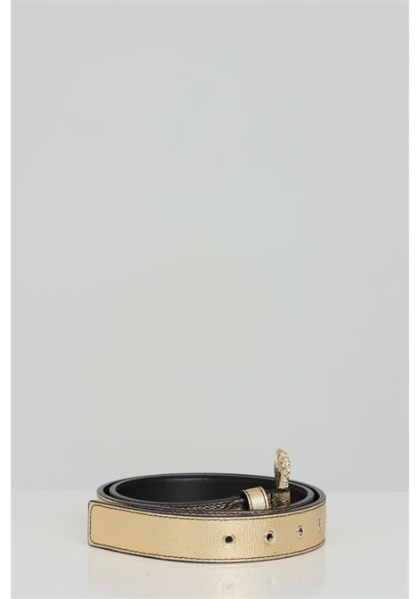 Cintura silver con mini fibbia in oro VERSACE JEANS COUTURE | Cinture | D8VWAF0172010901