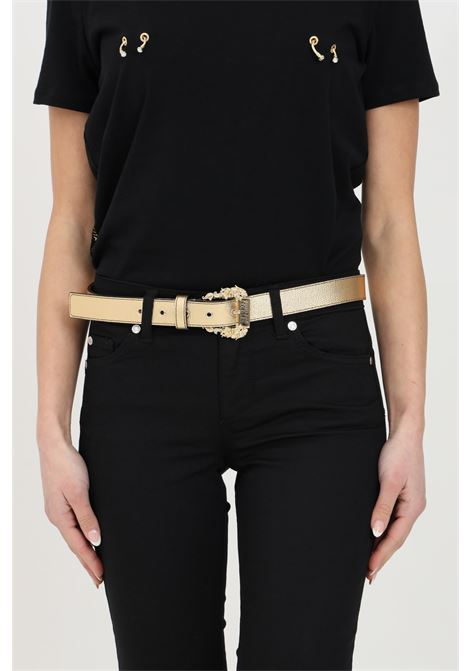 Gold belt with gold buckle. Brand: Versace jeans couture VERSACE JEANS COUTURE | Belt | D8VWAF0172010901