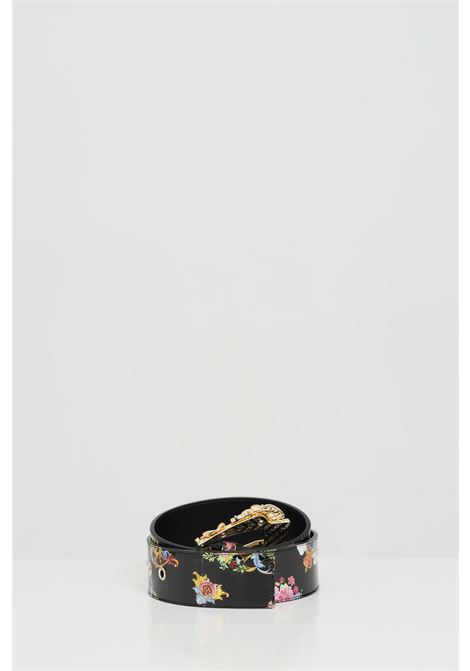 Cintura stampata con una maxi fibbia in oro light VERSACE JEANS COUTURE | Cinture | D8VWAF0271877M09M09