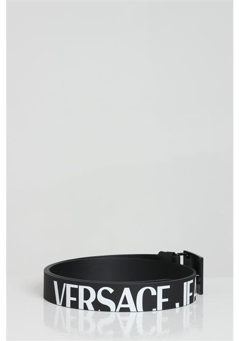 Cintura in pelle tinta unita con fibbia logata VERSACE JEANS COUTURE | Cinture | D8YWAF2171993899