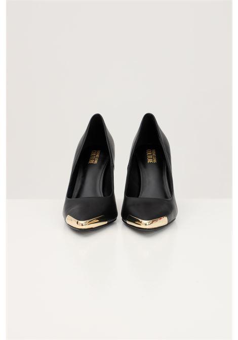 Decollete donna nere versace jeans couture con punta oro VERSACE JEANS COUTURE | Party Shoes | E0VWAS5071977899