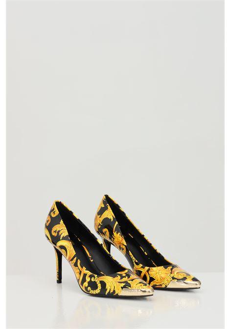 Décolleté Linea fondo Chloe dis.50 donna fantasia versace jeans couture con punta in metallo e stampa barocca VERSACE JEANS COUTURE | Party Shoes | E0VWAS5071983M27