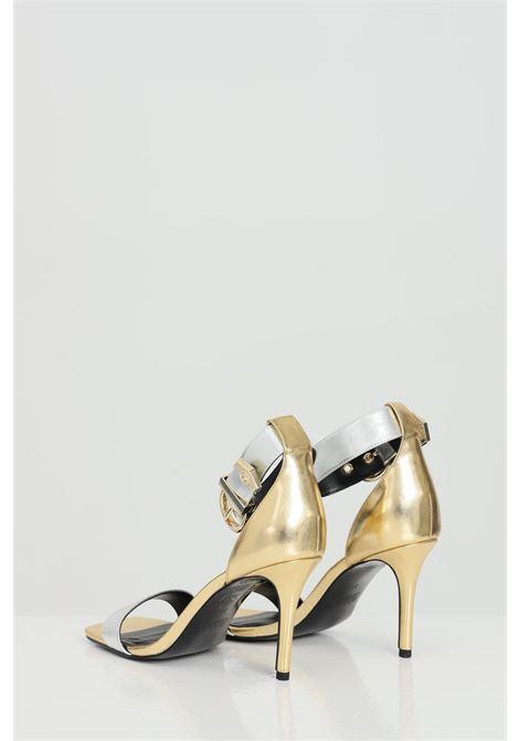 Sandali donna oro-argento versace jeans couture con chiusura regolabile VERSACE JEANS COUTURE | Party Shoes | E0VWAS7071980MGD