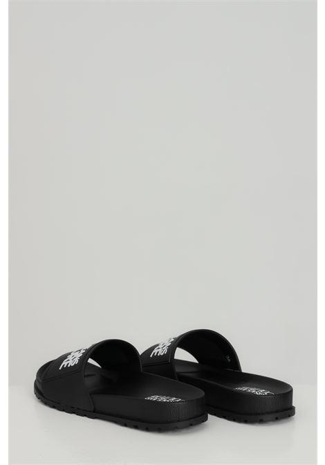 Ciabatte LINEA FONDO SLIDES DIS. SQ2 unisex nere versace jeans couture in gomma, tinta unita con logo a contrasto frontale VERSACE JEANS COUTURE | Ciabatte | E0VWASQ271353899