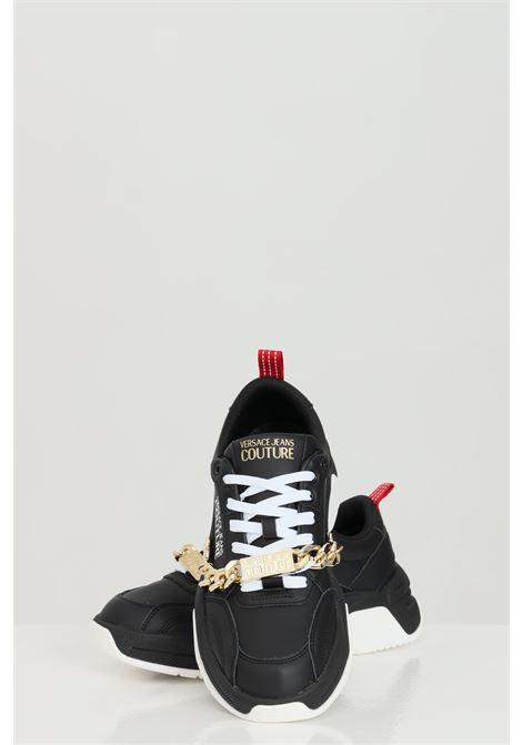 Sneakers LINEA FONDO FIRE1 DIS.13 uomo nero versace jeans couture VERSACE JEANS COUTURE | Sneakers | E0YWASF471957899