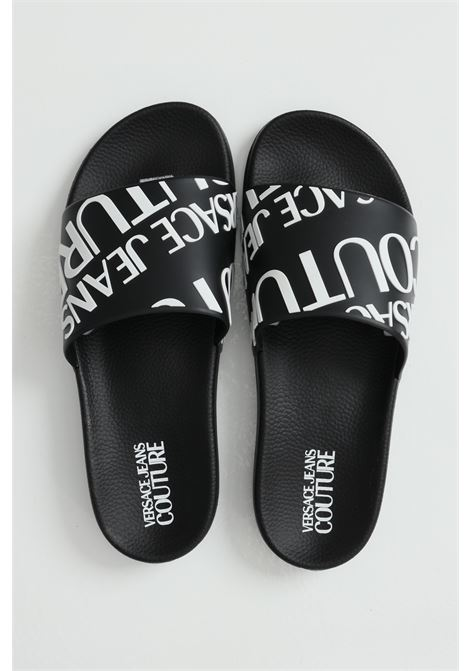 Linea fondo slide slippers with contrasting logo VERSACE JEANS COUTURE | Slipper | E0YWASQ171352899