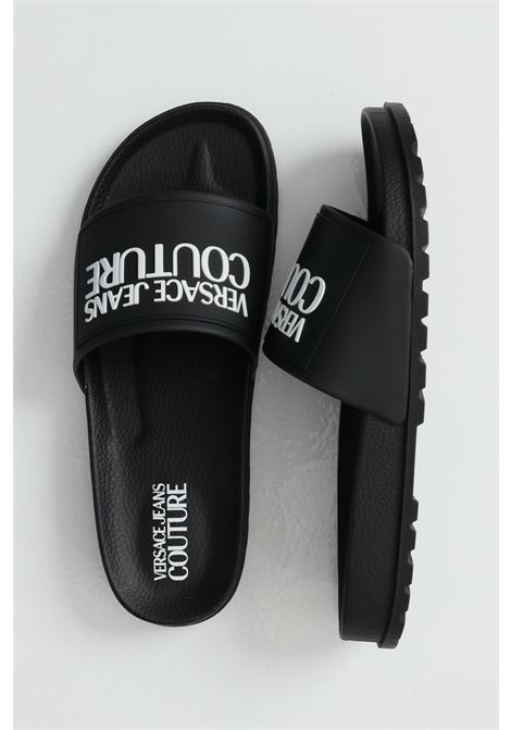 Linea fondo slide slippers with contrasting logo VERSACE JEANS COUTURE | Slipper | E0YWASQ271353899