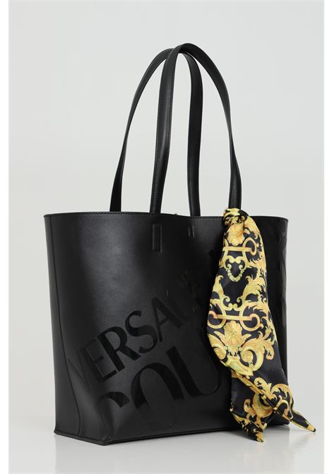 Shopper with maxi UV print and printed foulard. VERSACE JEANS COUTURE | Bag | E1VWABA171875899