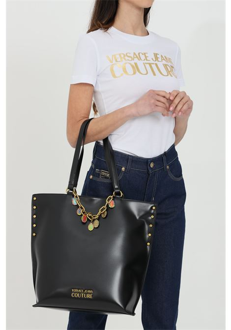 Shopper with handles and gold charms VERSACE JEANS COUTURE | Bag | E1VWABC371876899