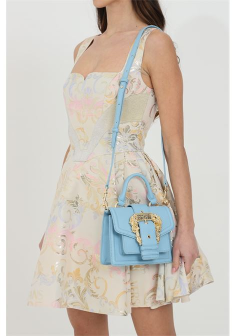 Indigo bag with shoulder strap and golden buckle VERSACE JEANS COUTURE | Bag | E1VWABF371578904