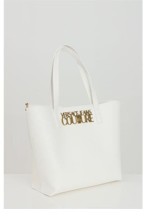 Borsa donna bianca versace jeans couture, modello shopper con portafogli interno VERSACE JEANS COUTURE   Borse   E1VWABL871879003