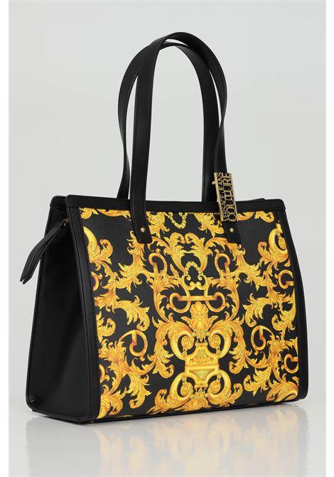 Shopper with baroque print and shoulder model VERSACE JEANS COUTURE | Bag | E1VWABM471880M27