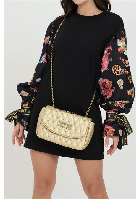 Gold bag with chain shoulder strap and gold logo versace jeans couture VERSACE JEANS COUTURE   Bag   E1VWABQ171881901