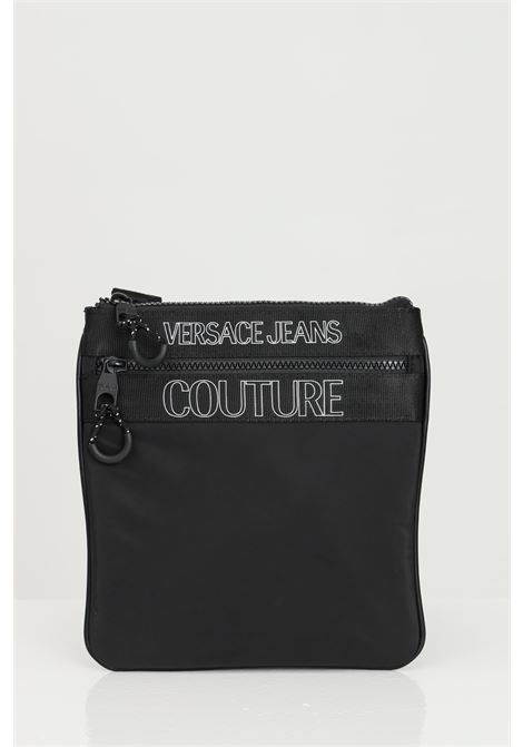 Borsello uomo nero versace jeans couture con tracolla e logo frontale VERSACE JEANS COUTURE | Borse | E1YWABA471895899899