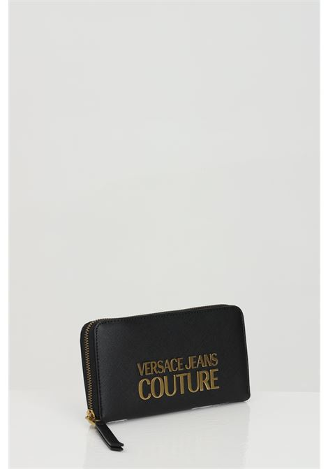 Black wallet with metal logo application. Versace jeans couture VERSACE JEANS COUTURE | Wallet | E3VWAPL171879899
