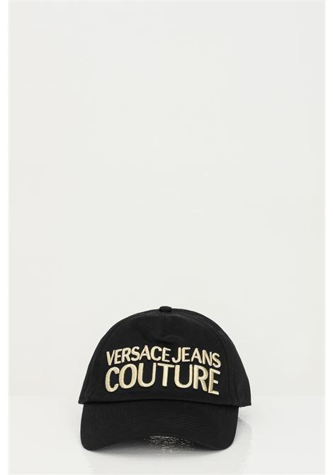 Cappello unisex nero versace jeans couture, berretto in cotone con logo frontale ricamato VERSACE JEANS COUTURE   Cappelli   E8YWAK1085075M27