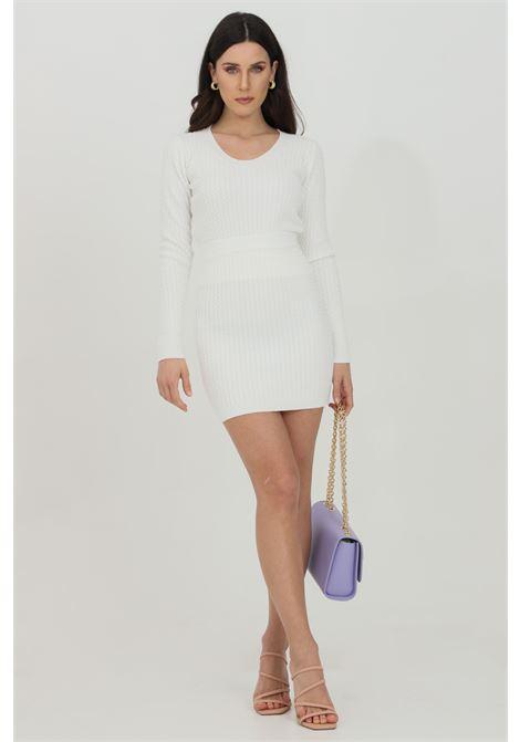 Gonna donna bianca Vicolo corta lavorata in maglia, senza chiusura VICOLO | Gonne | 7056HBIANCO