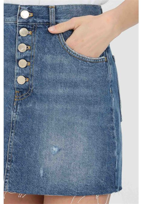 Denim skirt with side pockets and button closure. Vicolo VICOLO | Skirt | DH0008JEANS