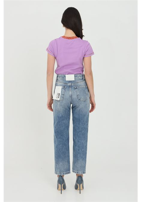 Jeans with high waist and straight bottom, front abrasions. Regular model. Vicolo VICOLO | Jeans | DH0073.
