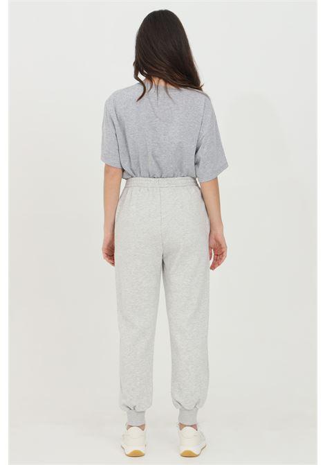 Pantalone donna grigio Vicolo casual con logo ricamato a contrasto. Polsino elastico sul fondo VICOLO | Pantaloni | RH0006GRIGIO