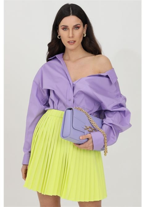 Lilac shirt with long sleevec, front closure with buttons. Over size model. Vicolo VICOLO | Shirt | TH0016VIOLA