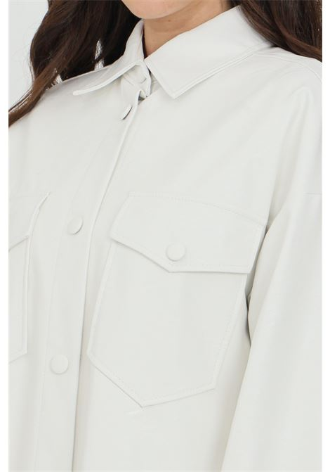 Camicia donna bianca Vicolo casual in ecopelle VICOLO | Camicie | TH0066BIANCO