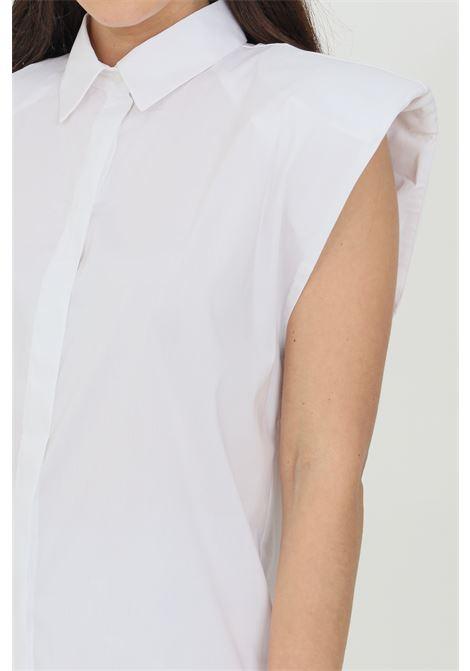 Camicia donna bianca Vicolo casual senza maniche e con spalline VICOLO | Camicie | TH0297BIANCO
