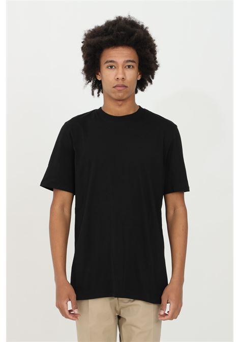 T-shirt uomo nera yes london con applicazioni sul retro. Modello comodo YES LONDON | T-shirt | XM3857NERO