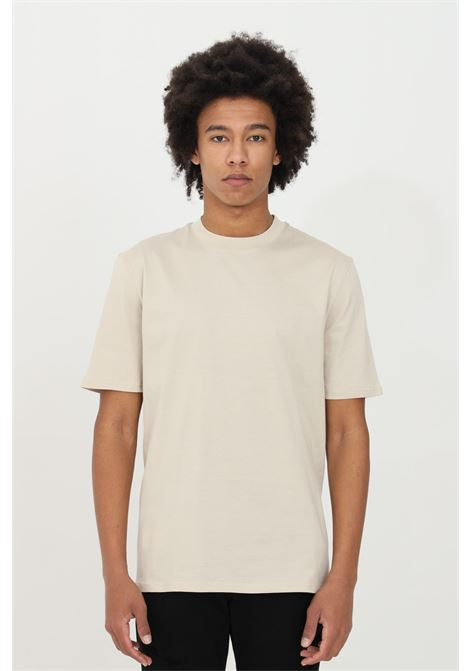 Beige t-shirt in premium cotton, short sleeves. Yes london YES LONDON | T-shirt | XM3875BEIGE