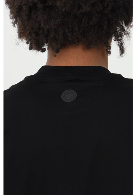 Black t-shirt in premium cotton, short sleeves. Yes london YES LONDON | T-shirt | XM3875NERO
