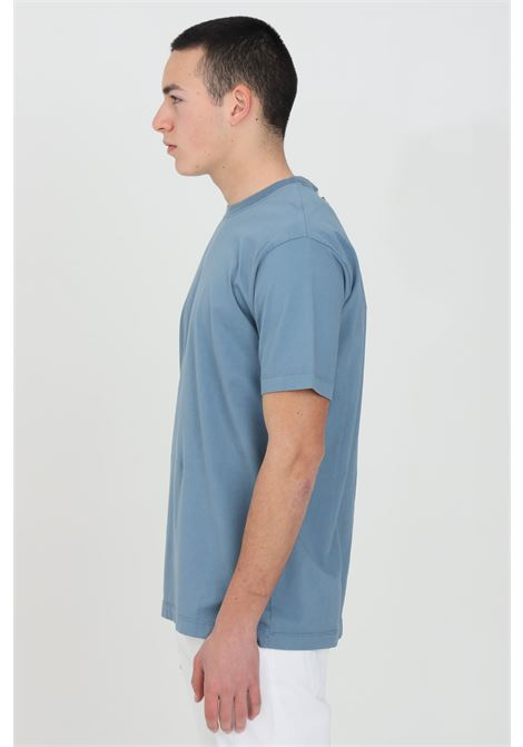 T-shirt uomo celeste yes london a manica corta modello basic YES LONDON | T-shirt | XM3880CELESTE