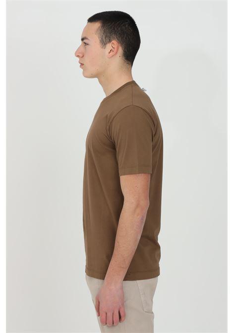 T-shirt uomo marrone yes london a manica corta modello basic YES LONDON | T-shirt | XM3880COCCIO