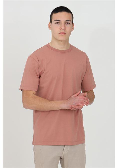 T-shirt uomo rosa yes london a manica corta modello basic YES LONDON | T-shirt | XM3880ROSA-ANTICO