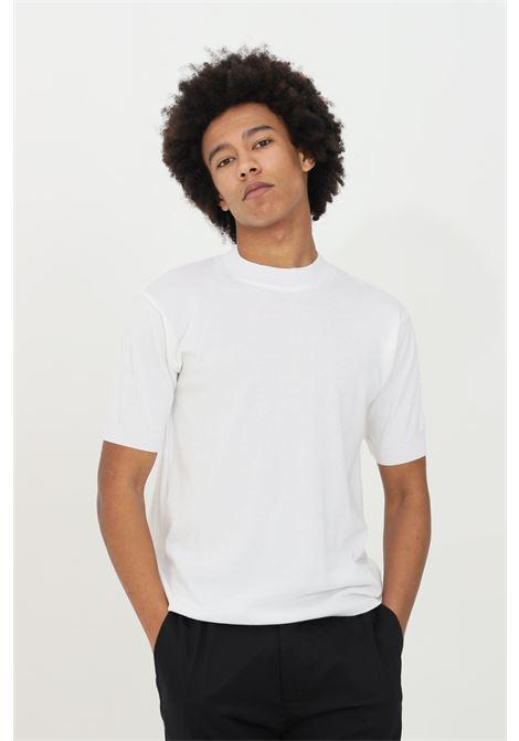 T-shirt uomo bianca yes london a manica corta in cotone premium. Modello in maglina con orli elastici con costine YES LONDON | T-shirt | XM3883BIANCO